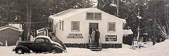 Hazel's original Homer, Alaska store in the 1940s